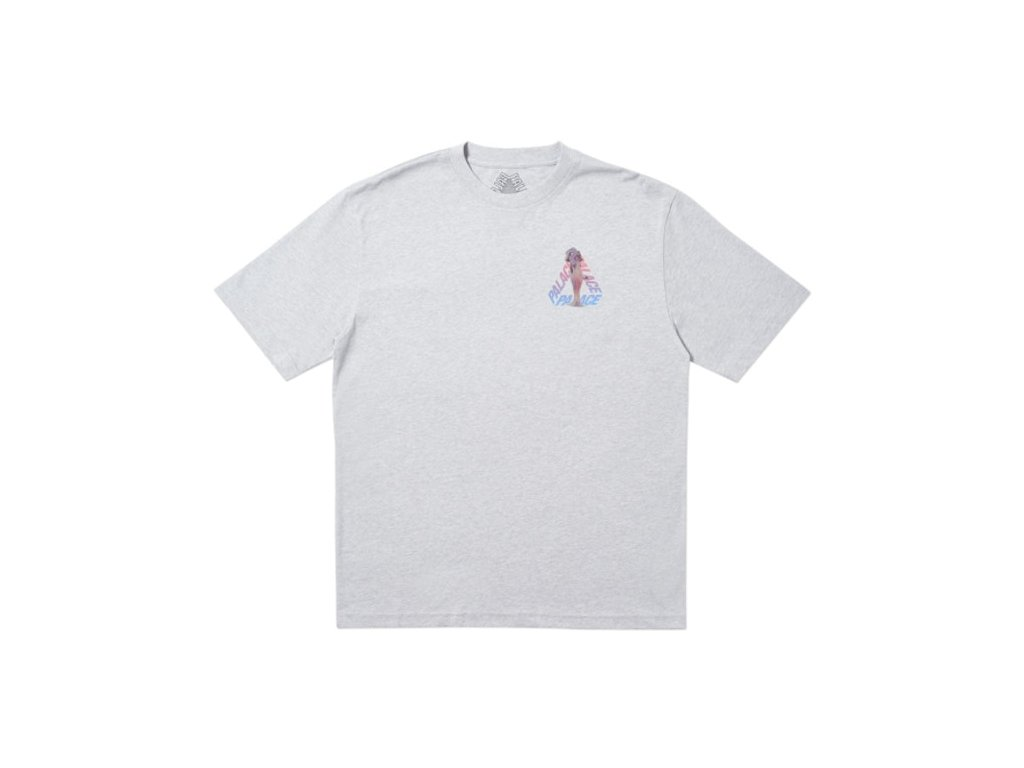 Palace Rolls P5 T Shirt Grey Marl