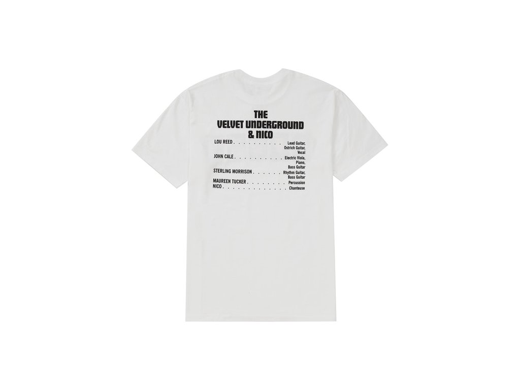 Supreme The Velvet Underground Nico Tee White