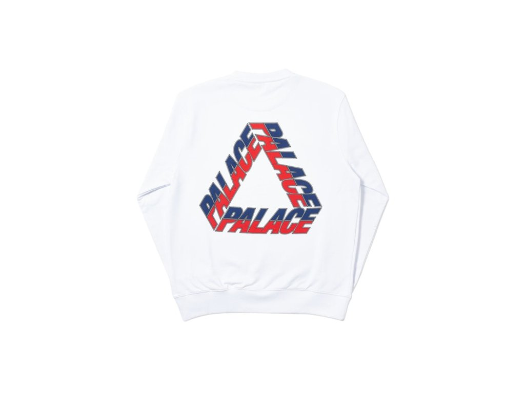 Palace Split P3 Crew White 3