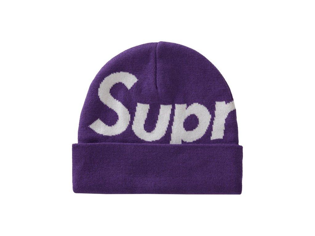 Supreme Big Logo Beanie FW20 Purple