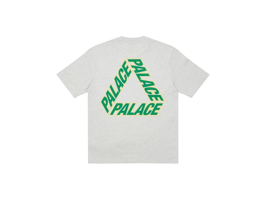 Palace P3 Team T Shirt Grey Marl
