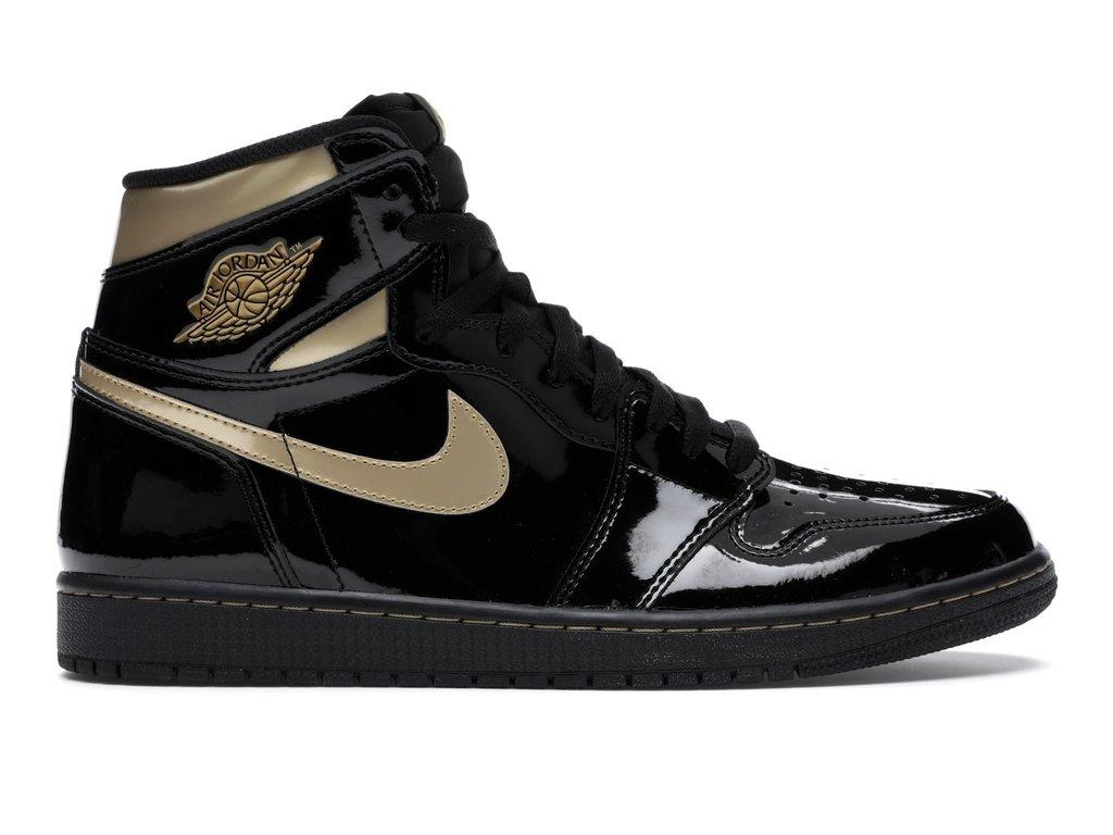 Air Jordan Retro 1 High Black Metallic Gold