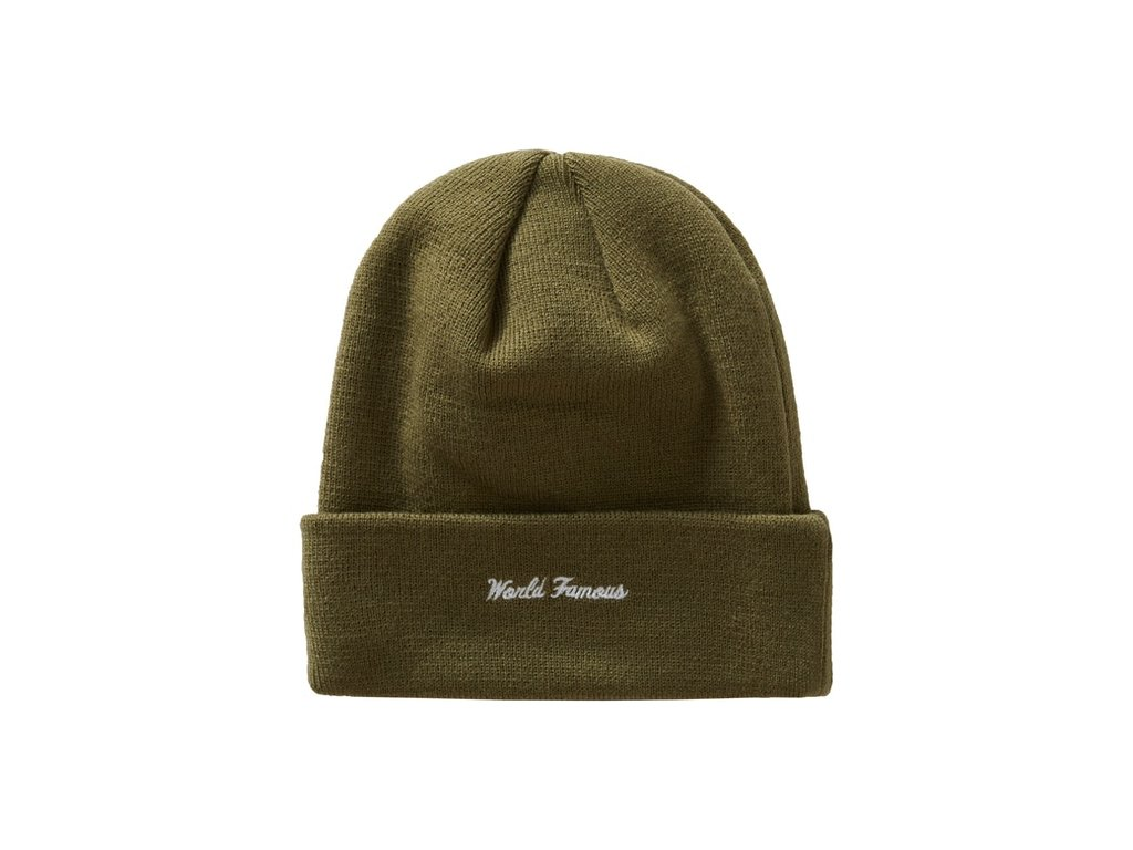 Supreme New Era Cross Box Logo Beanie Light Olive