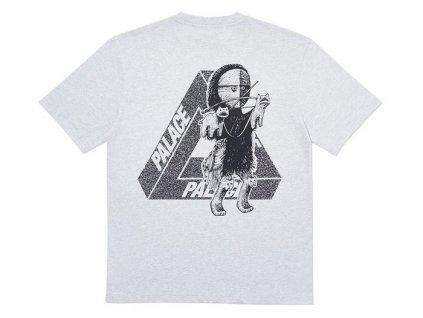 Palace U Figure T Shirt Grey Marl 2