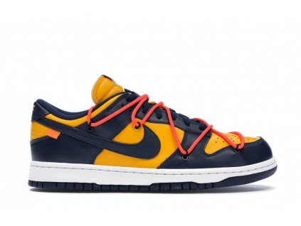 Nike SB Dunk Low Off-White Gold/Navy