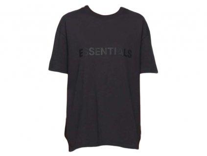 fear of god essentials x ssense 3d silicon applique boxy t shirt dark navy